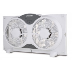 "9"" Twin Window Fan"