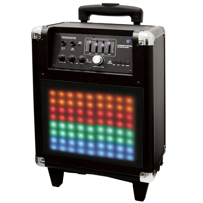 Rolling Portable Speaker System with Color Changing Lights