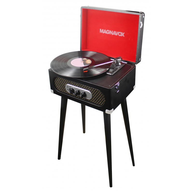 Stereo Suitcase Turntable System with Stand