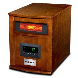 8 element Infrared Heater wood cabinet