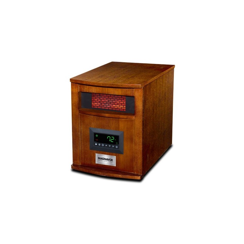 6 Element Infrared Heater Wood Cabinet