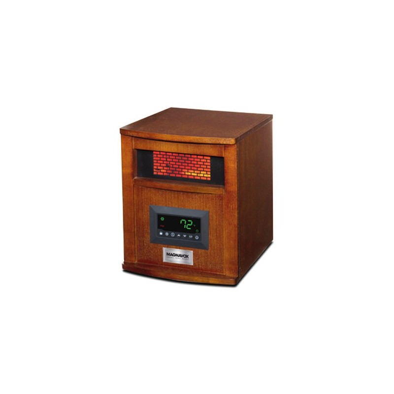 4 Element Infrared Heater Wood Cabinet