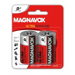 2 pack D Alkaline Batteries