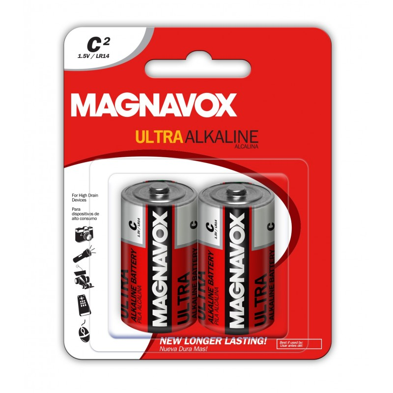 2pack C Alkaline Batteries