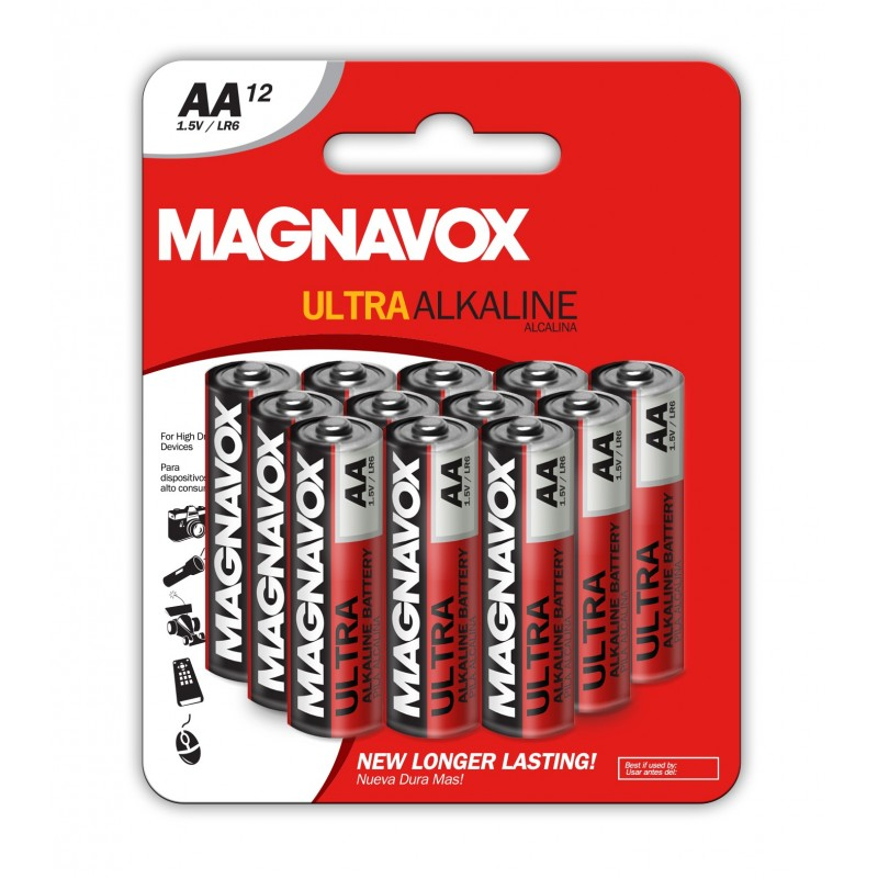 12pack AA Alkaline Batteries