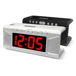 Dual Alarm Clock with Qi Charging Pad