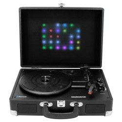 Suitcase Turntable System with Decorative Lights